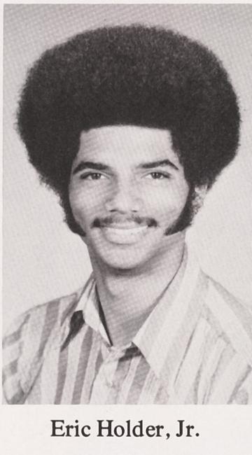 Eric Holder's 1973 Columbia yearbook photo